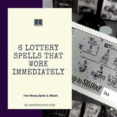 6 Lottery Spells that Work Immediately [Free Money Spells & Rituals] - - In this article, I'll cover 6 Powerful Lottery Spells and Rituals that will help you win more money. Some of them work immediately. Check them out! Powerful Money Spells, Money Spells That Work, Spells That Really Work, Wiccan Spells Money, Pagan, Witchcraft Spells, Winning Lottery Numbers, Winning The Lottery, Lotto Numbers