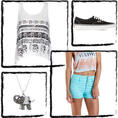 Elephant by bethany-robison on Polyvore featuring Ally Fashion, Charlotte Russe, Vans and Crystal Sophistication