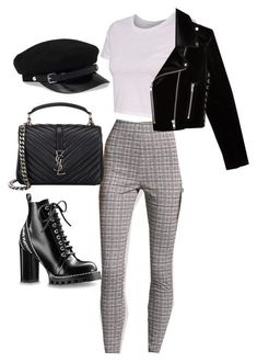 Edgy grunge plaid pants outfit outfits in 2019 идеи наряда, Look Fashion, Teen Fashion, Korean Fashion, Autumn Fashion, Fashion Outfits, Fashion Trends, College Fashion, Skirt Fashion, Fashion News