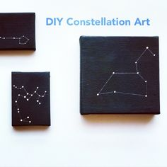 A little obsessed with these #DIY Constellation canvases by @nomodellady at lovemaegan.com today ? I want to make 100 of them and line my hallway!