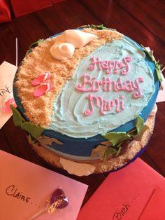 Cute, beach theme party cake.