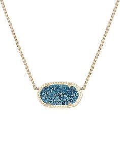Elisa Pendant Necklace in Blue Drusy - Kendra Scott Jewelry