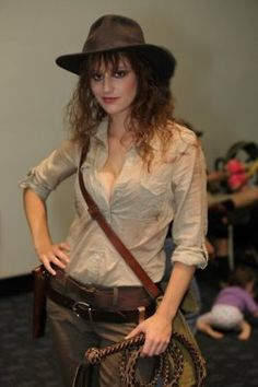 Indiana Jones, Rule 63 cosplay. I have to do this someday! Maybe Comic Con next year!