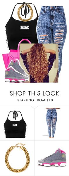 """✨"" by trillest-queen ❤ liked on Polyvore featuring H&M and NIKE"