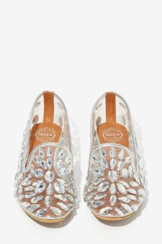 Jeffrey Campbell Elegant Jeweled Loafers - Silver | Shop Shoes at Nasty Gal