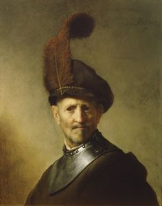"""""""An Old Man in Military Costume"""" by Rembrandt from the J. Paul Getty Museum"""