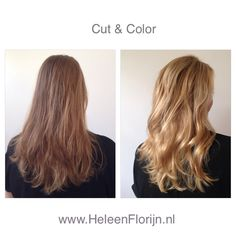 Long blond hair babylights soft balayage cut and color
