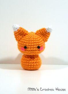 Crochet Cinnamon the Fox Amigurumi Toy