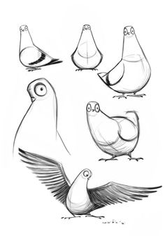 pigeon drawing simple - Google Search