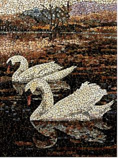 Swan Mosaic - lovely. Wish I knew the artist's name so that I could attribute it properly. Vio~