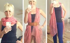 Fun, creative ways to style scarves & belts