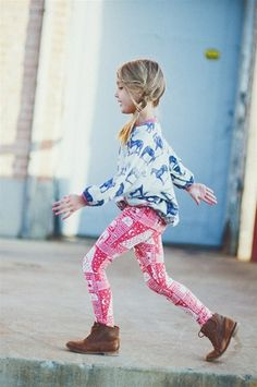 so cute.  Mixing pattern's was totally my jam when I was little.