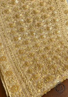 Thai Traditional Bridal Wedding Dress With Beautiful Hand Beaded Sash. Zardozi Embroidery, Tambour Embroidery, Couture Embroidery, Embroidery Stitches, Beadwork Designs, Gold Work, Beaded Jewelry Patterns, Thai Style, Asian Fashion