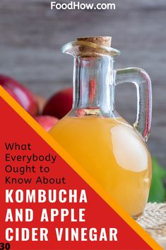 Kombucha vs Apple Cider Vinegar – Which Fermented Drink Is The Best Braggs Apple Cider Vinegar, Organic Apple Cider Vinegar, Acv, Apple Benefits, Health Benefits, Kombucha Tea, Kombucha Brewing, Kombucha How To Make, Organic Acid