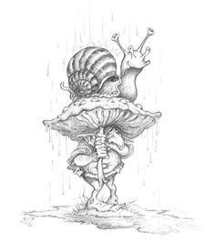 Healthy breakfast ideas for kids images clip art designs for women Fairy Drawings, Fantasy Drawings, Art Drawings Sketches, Fantasy Art, Mushroom Drawing, Mushroom Art, Fairy Sketch, Arte Disney, Drawing Artist