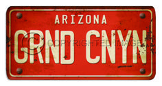 Custom Vintage License Plate Sign - Arizona: Custom Vintage Signs