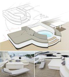 Yacht design - Ferretti 115 Refit by Ubica #Yacht #YachtDesign #YachtRefit