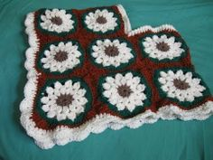 Crocheted Granny Square Childs Poncho...don't know that I'd make a poncho but the square is cute :-)