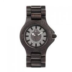 A beautiful timepiece crafted from 100% natural Blackwood. This unique timepiece is a combination of wood and sparkle, giving the watch wearer the chance to be eco conscious and glamorous at the same time! This fashionable watch is suitable for ladies to be worn as an oversized watch.