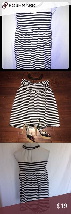 Black and white striped dress from Torrid Black and white striped dress from torrid sweetheart neckline falls just above-the-knee size 1X torrid Dresses Mini