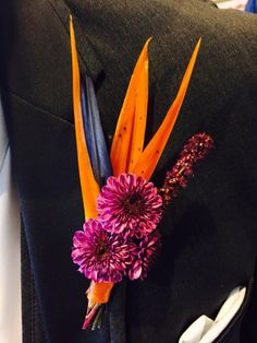 Birds of paradise   boutonniere.