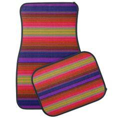 Rainbow Stripes Floor Mat