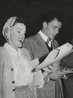 Judy Garland and Frank Sinatra, 1945.