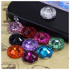 How Glamorous are these home button gems?! Super cute and FAB!