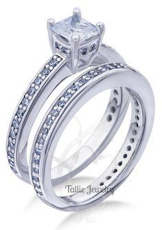 Diamond Engagement Rings Bridal Set 14k Gold Wedding Bands Matching