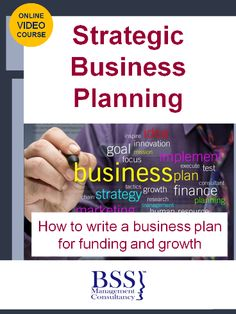 Business Planning On-line Course by BSS Management Consultancy offering you : Contents : •	The importance of putting together  a business plan  & misconception of business planning •	What is a business plan. •	The difference between strategic planning and business planning. •
