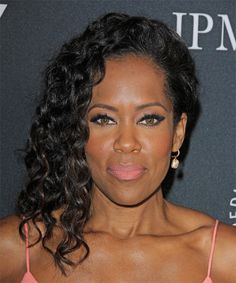 View yourself with this Regina King Long Curly Black Hairstyle Formal Hairstyles, Straight Hairstyles, Cool Hairstyles, Black Hairstyles, Long Curly Hair, Curly Hair Styles, Natural Hair Styles, Hair Color For Black Hair, Dark Hair