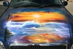 2fef945e275216 Custom Car Painting - Car Airbrushing - Custom Airbrushing by Advanced  Airbrush - Award winning airbrushed
