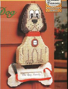 Watch Dog Plastic Canvas Pattern by needlecraftsupershop on Etsy, $4.50