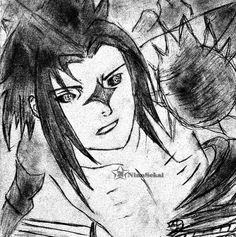 Uchiha Sasuke, Naruto Shippuden, Sketch, Drawing, Anime