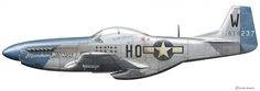 North American P-51 D-10-NA Mustang Flown by Captain William T. Whisner Jr. 352nd FG 487th FS, Asch (Y-29)/Belgium. 1 January, 1945. © Claes Sundin 2013