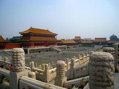 I have to visit this place - Tiananmen Square in Beijing's Forbidden City, showing its classical Chinese architectural style
