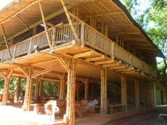 Bamboo Structure, Timber Structure, Bamboo Garden, Bamboo Fence, Bamboo Building, Building A House, Cabana, Forest Hotel, Filipino House