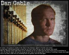 Dan Gable.  I love this!