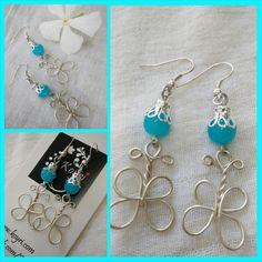 #butterfly #silver #blue #wire #jewelry