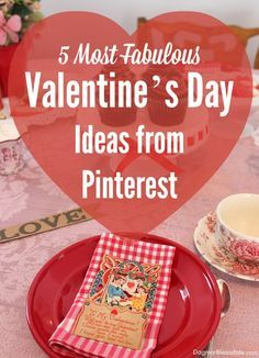 5 Fabulous Valentine's Day Ideas From Pinterest. Dagmar's Home, DagmarBleasdale.com #Valentinesday #crafts #DIY #Valentine #gifts #hearts