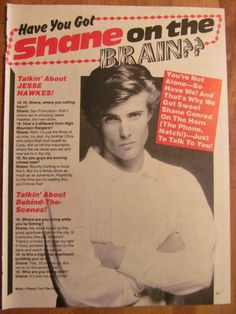 Shane Conrad, Full Page Vintage Clipping
