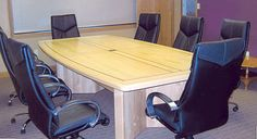 Solid maple wood table designed by Specialty Woods. Neal Burns 509-466-4684