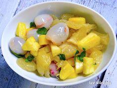 Egzotikus téli gyümölcssaláta Fruit Salad, Cantaloupe, Food, Fruit Salads, Essen, Meals, Yemek, Eten