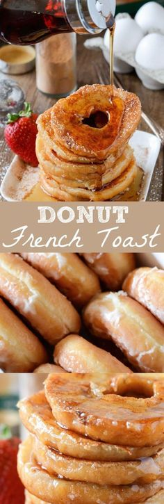 Donut French Toast! Repurpose those stale donuts into french toast!!