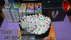 "TOUCH FIVE Markers (80pc Fashion Set) from Aliexpress & ""Art Desk"" Setup!!!"