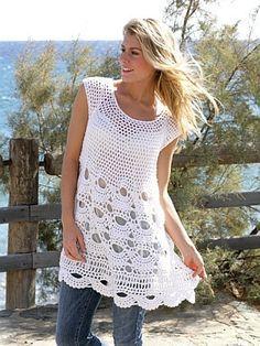 crochet pattern - scalloped tunic