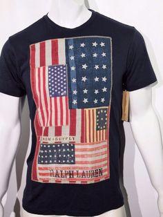 Denim Supply Ralph Lauren men's American Flag graphic print t-shirt size medium  #DenimSupplyRalphLauren #GraphicTee