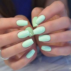 The advantage of the gel is that it allows you to enjoy your French manicure for a long time. There are four different ways to make a French manicure on gel nails. The choice depends on the experience of the nail stylist… Continue Reading → Blue Nail, Pink Nails, My Nails, Pastel Nails, Mint Green Nails, Zebra Nails, Color Nails, Red Nail, Swag Nails