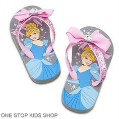 Cinderella Girls 7 8 9 10 11 12 Sandals Flip Flops Shoes Disney Princess | eBay