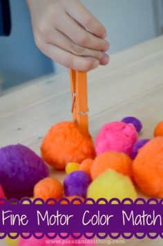 Game to work on fine motor skills - play using colors